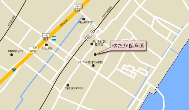 ゆたか保育園周辺地図